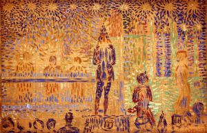 Study for 'Invitation to the Sideshow' - Georges Seurat Oil Painting
