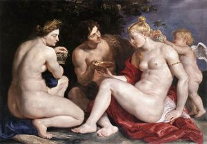 Venus, Cupid, Baccchus and Ceres - Peter Paul Rubens Oil Painting