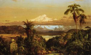 Cayambe - Frederic Edwin Church Oil Painting
