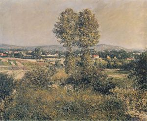 Landscape at Argenteuil - Gustave Caillebotte Oil Painting
