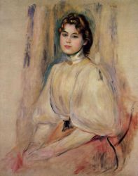 Seated Young Woman II - Oil Painting Reproduction On Canvas