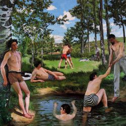 Summer Scene - Jean Frederic Bazille Oil Painting