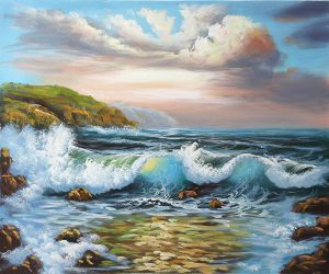 Musical Tides - Oil Painting Reproduction On Canvas