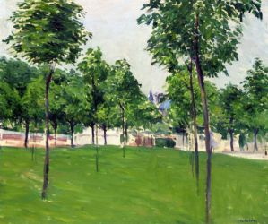 Promenade at Argenteuil - Gustave Caillebotte Oil Painting