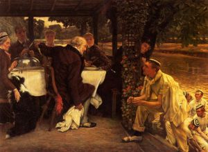 The Prodigal Son in Modern Life: the Fatted Calf - James Tissot oil painting