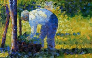 The Gardener - Georges Seurat Oil Painting