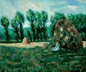 Haystacks, Evening Effect - Claude Monet Oil Painting