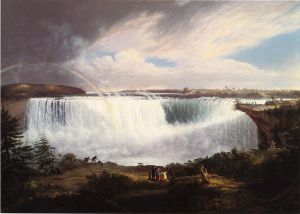 The Great Horseshoe Fall, Niagara - Gilbert Stuart Oil Painting