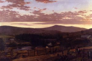 Ira Mountain, Vermont - Frederic Edwin Church Oil Painting