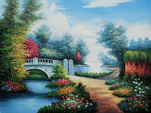 Broadwater Bridge II - Oil Painting Reproduction On Canvas