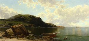 Beach Scene - Alfred Thompson Bricher Oil Painting