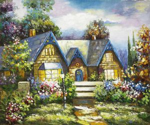 Winsor Manor - Oil Painting Reproduction On Canvas