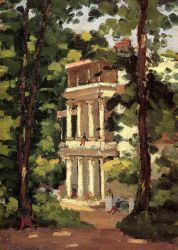 Yerres, Colonnade of the 'Casin' - Gustave Caillebotte Oil Painting