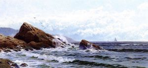Crashing Waves - Alfred Thompson Bricher Oil Painting