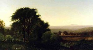 July Afternoon in Greenfield, Massachusetts - Alfred Thompson Bricher Oil Painting
