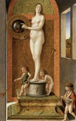 Four Allegories: Prudence (or Vanity) - Giovanni Bellini Oil Painting