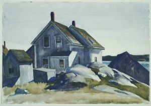 House at the Fort, Gloucester - Edward Hopper Oil Painting