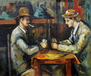 Card Players With Pipes Paul Cezanne Oil Painting Oil Paintings - Who painted the card players