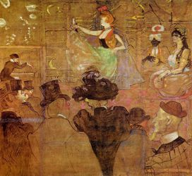 La Goulue Dancing - Henri De Toulouse-Lautrec Oil Painting