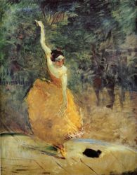 The Spanish Dancer -   Henri De Toulouse-Lautrec Oil Painting