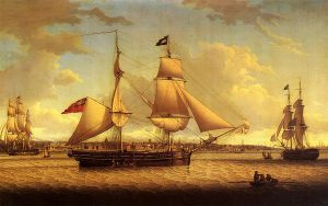 Ship off Liverpool - Robert Salmon Oil Painting