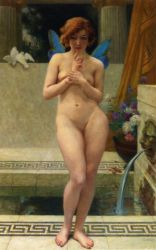 Psyche at a Fountain - Guillaume Seignac Oil Painting