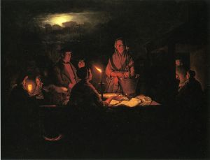 The Night Market - Petrus Van Schendel Oil Painting