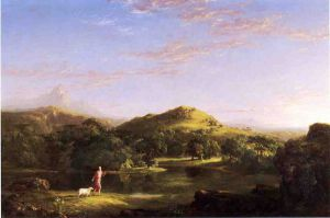 The Good Shepherd - Thomas Cole Oil Painting