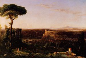 Italian Scene, Composition - Thomas Cole Oil Painting
