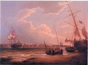 The Liverpool in the Mersey - Robert Salmon Oil Painting