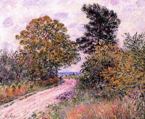 Edge of the Fountainbleau Forest-Morning - Alfred Sisley Oil Painting