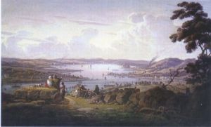 View of Dunbarton and River Clyde - Robert Salmon Oil Painting