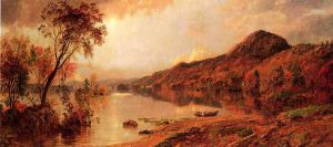 Autumn by the Lake II - Jasper Francis Cropsey Oil Painting