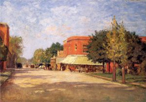 Street Scene - Oil Painting Reproduction On Canvas