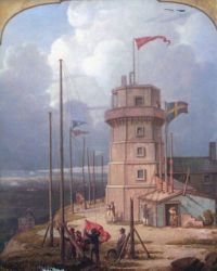 Old Bidston Lighthouse - Oil Painting Reproduction On Canvas