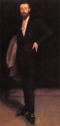 Arrangement in Black: Portrait of F. R. Leland - Oil Painting Reproduction On Canvas James Abbott McNeill Whistler Oil Painting