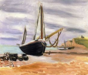 Boats at Etretat - Henri Matisse Oil Painting