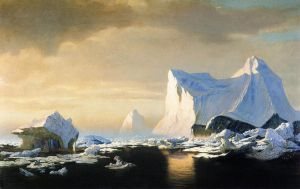 Icebergs in the Arctic - William Bradford Oil Painting