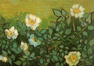 Wild Roses - Vincent Van Gogh Oil Painting