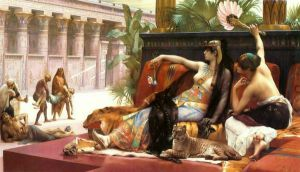 Cleopatra Testing Poisons on Condemned Prisoners - Alexandre Cabanel Oil Painting