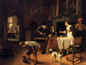 Easy Come, Easy Go - Jan Steen oil painting