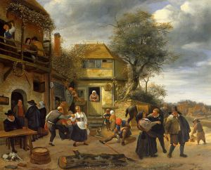 Peasants before an Inn - Oil Painting Reproduction On Canvas