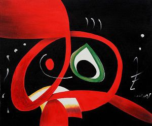 Kopf - Joan Miro Oil Painting