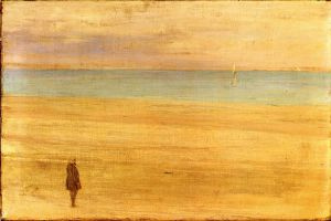 Harmony in Blue and Silver: Trouville - James Abbott McNeill Whistler Oil Painting