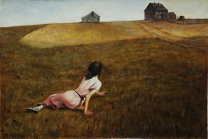 Christinas World - Andrew Wyeth Oil Painting