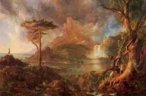 A Wild Scene - Thomas Cole Oil Painting