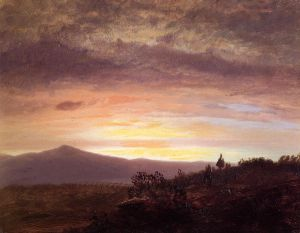 Mount Katahdin II - Frederic Edwin Church Oil Painting