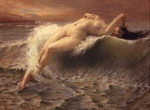 La Vague - Guillaume Seignac Oil Painting