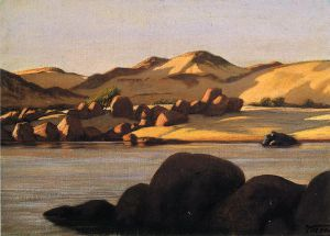 Egyptian Nile - Elihu Vedder Oil Painting