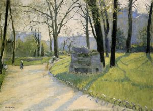 The Parc Monceau - Gustave Caillebotte Oil Painting